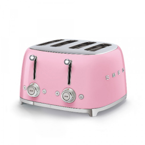 Smeg Broodrooster 4x4 Roze